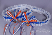 New York Knicks Lace Wedding Garter Set