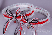 Miami Heat Lace Wedding Garter Set