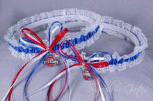 Detroit Pistons Lace Wedding Garter Set
