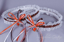 Cleveland Browns Lace Wedding Garter Set