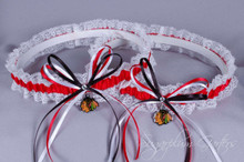 Chicago Blackhawks Lace Wedding Garter Set