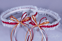 Arizona State University Sun Devils Lace Wedding Garter Set