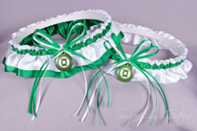 Green Lantern Wedding Garter Set