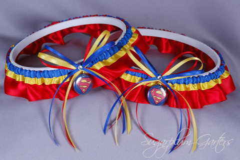 Superman Wedding Garter Set