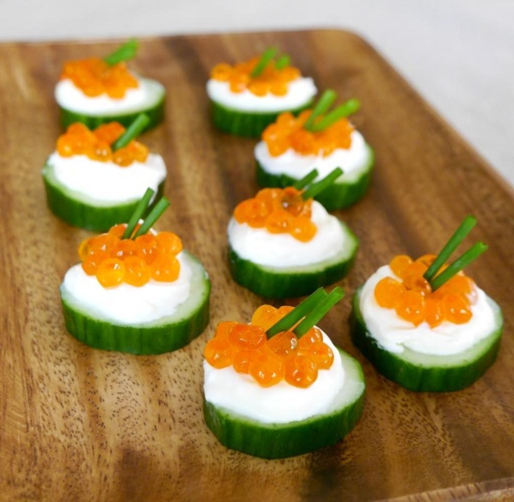 Caviar Cucumber Boats