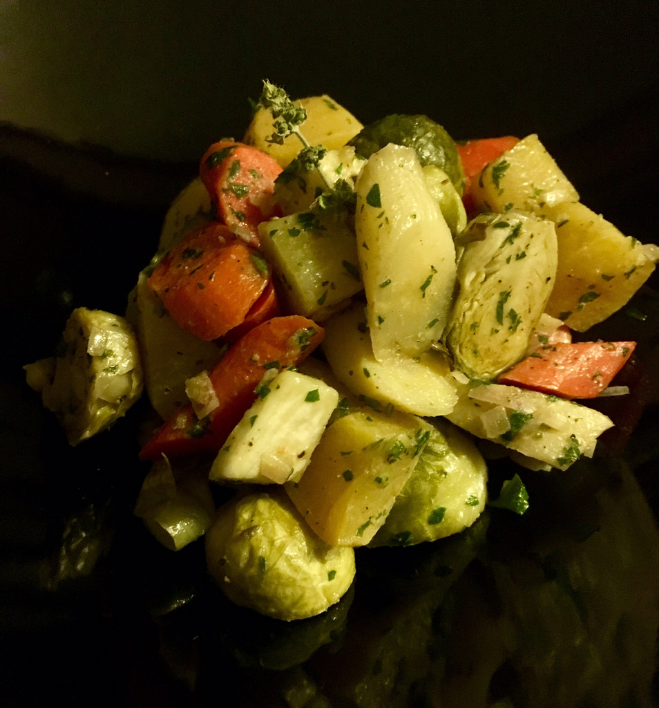 Caviar Star Recipe #19 - Roasted Root Vegetables with White Balsamic Vinaigrette