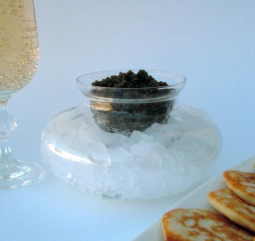 Glass Caviar Serving Dish