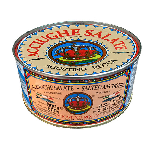 Salted Anchovies in Sea Salt