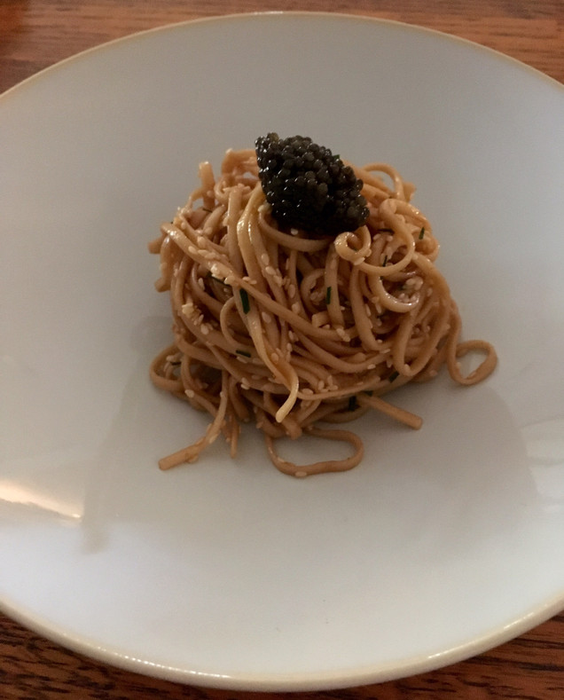 Caviar Star Recipe #23 - Chinese Sesame Noodles with Kaluga Caviar