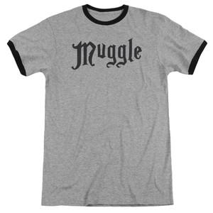 Black Ringer on Gray Heather Muggle