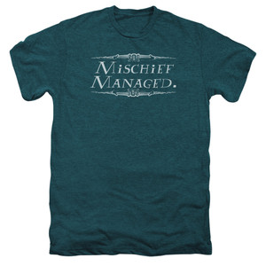 Mischief Managed on Deep Teal Heathe