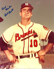 Bob Buhl Autographed Milwaukee Braves 8 x 10 Photo
