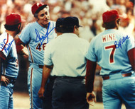 Dallas Green, Bobby Wine, and Lee Elia Autographed Phillies 8 x 10 Photo