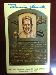 Robin Roberts Autographed Hall of Fame Gold Plaque Postcard
