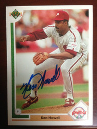 Ken Howell Autographed 1991 Upper Deck  #488