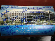 Veterans Stadium Giclee Print Signed by 28 1980 World Series Champs