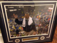 Joe Paterno Autographed Penn State 16 x 20 Photo Framed PSA