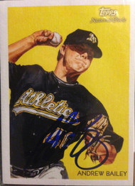 Andrew Bailey Autographed 2010 Topps National Chicle #133