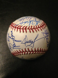 1980 Phillies Team signed ROMLB Baseball  by 24 Players all living