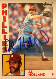 Al Holland Autographed 1984 Topps Tiffany #564