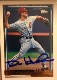 Dave Hollins Autographed 1992 Topps Gold Winner #383