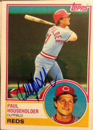 Paul Householder Autographed 1983 Topps #34