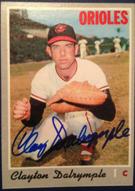 Clay Dalrymple Autographed 1970 Topps #319