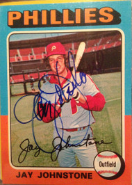Jay Johnstone Autographed 1975 Topps #242