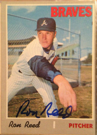 Ron Reed Autographed 1970 Topps #546