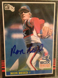 SOLD 1875 Ron Reed Autographed 1985 Donruss #282
