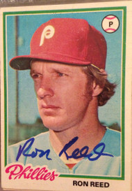 Ron Reed Autographed 1978 Topps #472