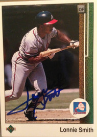 Lonnie Smith Autographed 1989 Upper Deck #731