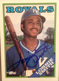 Lonnie Smith Autographed 1988 Topps #777