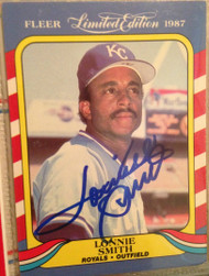 Lonnie Smith Autographed 1987 Fleer McCrorys #40