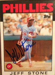 Jeff Stone Autographed 1986 Topps #686