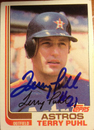 Terry Puhl Autographed 1982 Topps #277