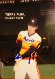 Terry Puhl Autographed 1985 Mothers Cookies #7