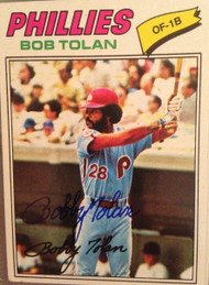 Bobby Tolan Autographed 1977 Topps #188