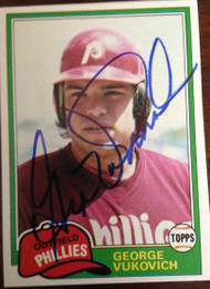 George Vukovich Autographed 1981 Topps #598