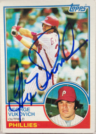 George Vukovich Autographed 1983 Topps #16