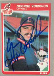 George Vukovich Autographed 1985 Fleer #458
