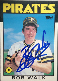 Bob Walk Autographed 1986 Topps Traded #120T