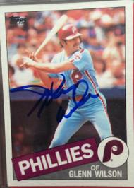 Glenn Wilson Autographed 1985 Topps #454