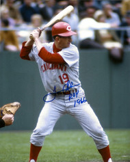 Tommy Helms Autographed Reds 8 x 10 Photo ROY 1966