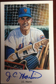 JC Martin Autographed 1994 Capitol Cards 69 Mets Postcard