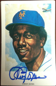 Cleon Jones Autographed 1994 Capitol Cards 69 Mets Postcard