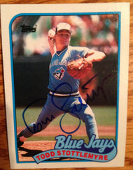 Todd Stottlemyre Autographed 1989 Topps #722