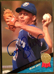 Todd Stottlemyre Autographed 1993 Leaf #25
