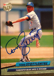 Todd Stottlemyre Autographed 1992 Fleer Ultra #153