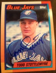 Todd Stottlemyre Autographed 1990 Topps #591